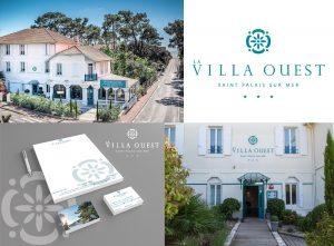 design graphique, création logo, identité visuelle hôtel, refonte identité visuelle, supports de communication, aménagement hotel st palais sur mer
